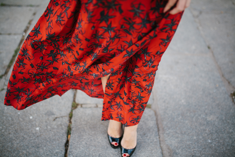 Invitada perfecta calista one Maison Shangai vestido rojo 6