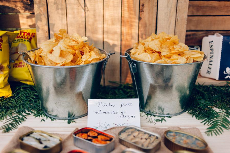 Puesto de aperitivo y conservas calista one summer party 3