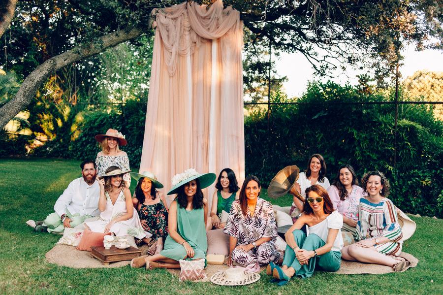 Pamelas invitadas rosa y verde 14