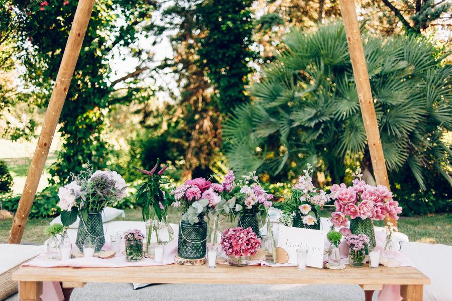 Flores para decorar tipis chill out la sastreria de las flores