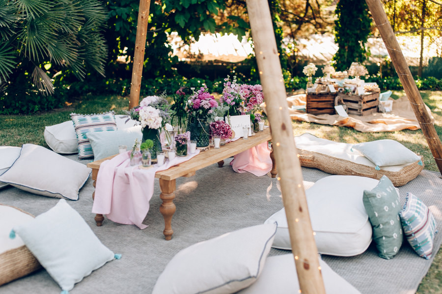 zona chill out cojines suelo tipis 10