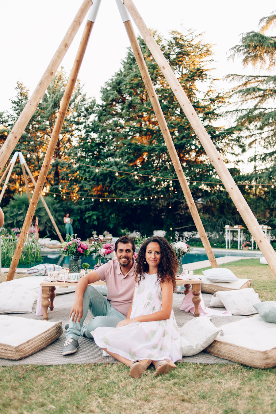 zona chill out cojines suelo tipis 9