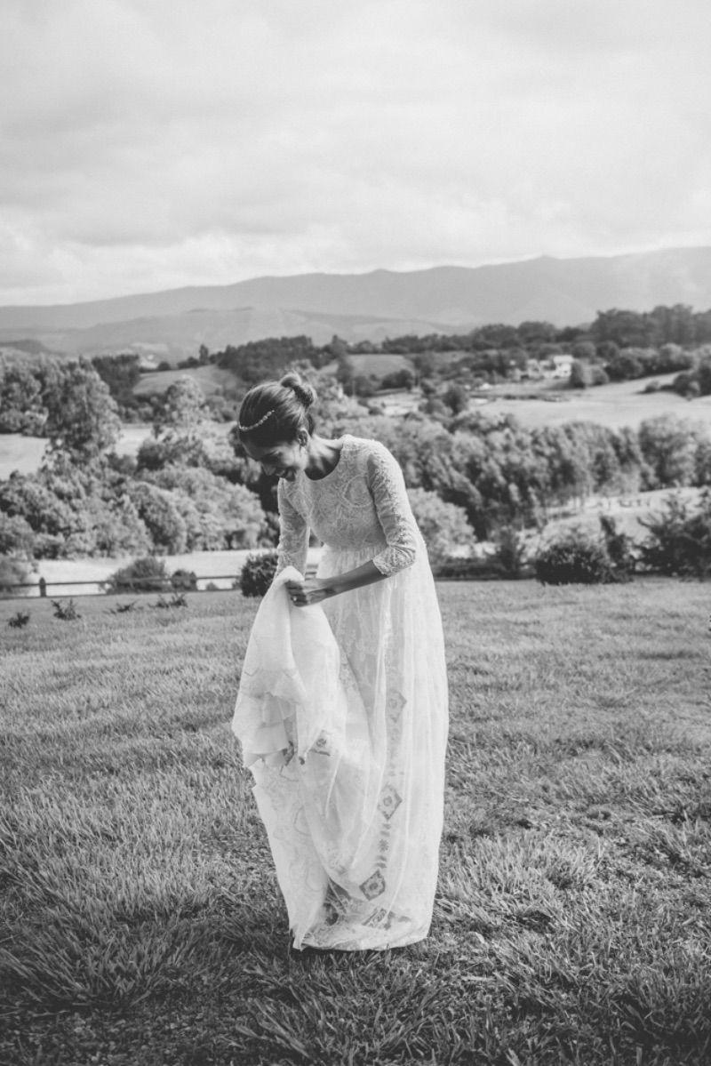 novia con vestido ines martin alcalde