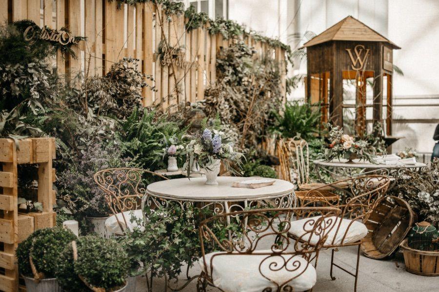 jardín secreto con aires decadentes en tu boda